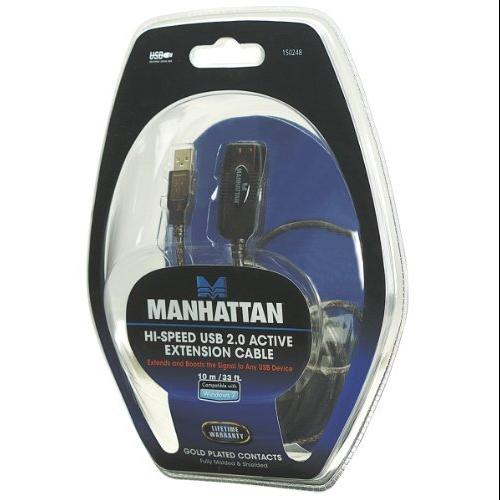 Manhattan Products 150248 33' Usb Active Extension Cable