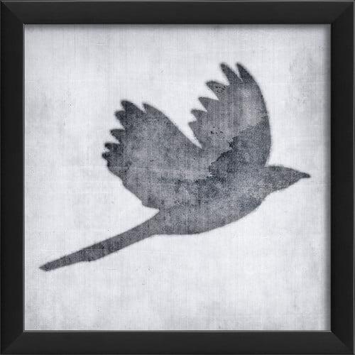 The Artwork Factory Bird 6 Framed Graphic Art in White by Blueprint Artwork