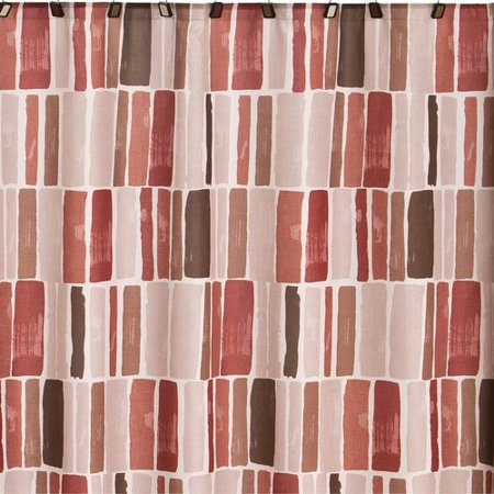 Mainstays Spice Fabric Shower Curtain Red