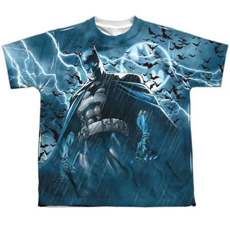 - Batman Stormy Knight Big Boys Youth Sublimated Polyester Shirt