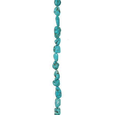 Semi Precious Stone Bead Strand - Turquoise - Nugget - 16 X 10Mm