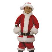 Red and White Santa Suit Plush Child Christmas Costume - Medium