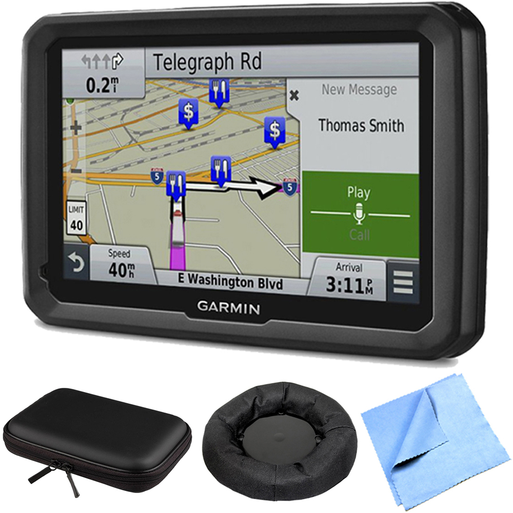 "Garmin dezl 770LMTHD 7 GPS w/ Lifetime Map/Traffic Updates Case/ Dash Mount Bundle - Includes 7"" GPS Navigation System, Mount, PocketPro XL Hardshell Case for 7-Inch Tablets and Cleaning Cloth"""
