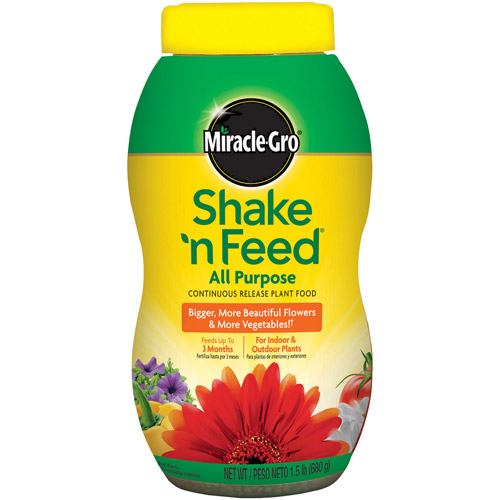 Miracle-Gro Shake 'n Feed Continuous Release All Purpose Plant Food, 1.8 lbs