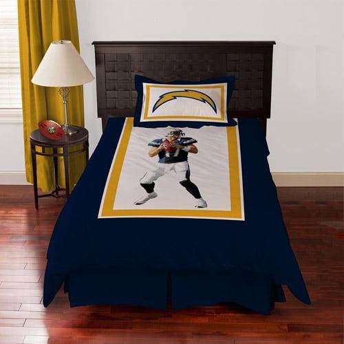 Biggshots San Diego Chargers Philip Rivers Bedding Comforter Set