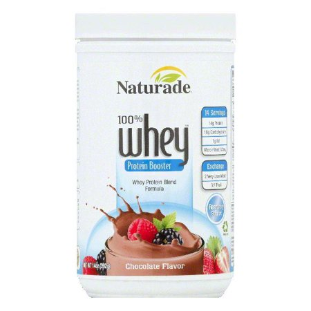 Naturade Chocolate Flavor 100% Whey Protein Booster, 14