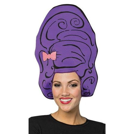 Beehive Purple Foam Costume Wigs - Walmart.com d6a415489