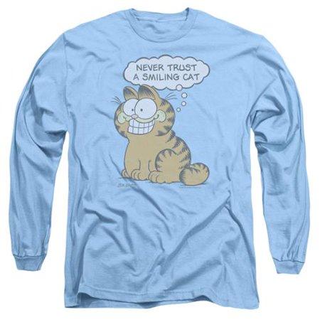 Garfield Smiling Cat Mens Long Sleeve Shirt