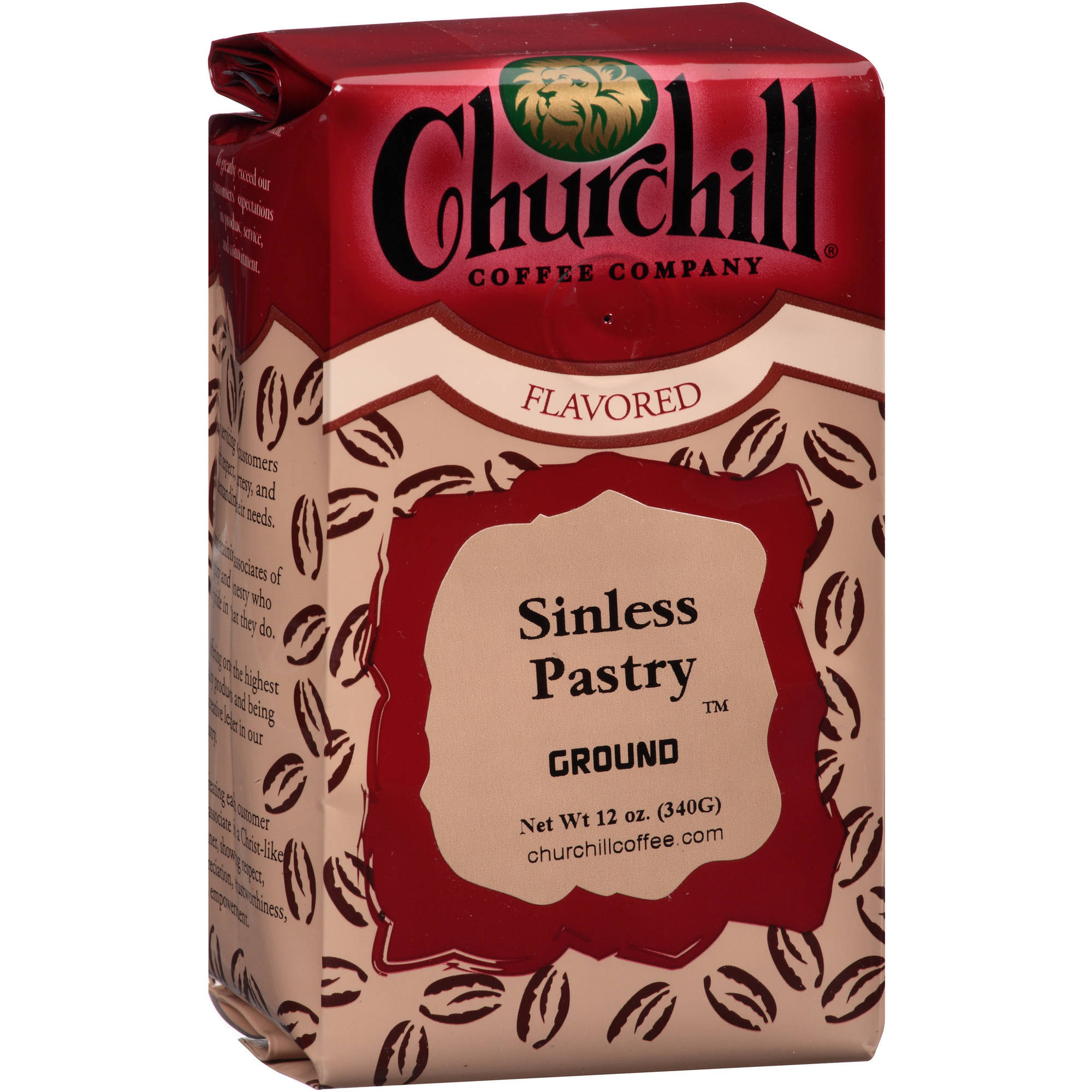 Churchill Coffee Company Sinless Pastry Cream Ground Coffee, 12 oz