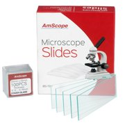 AmScope 72 Pre-Cleaned Blank Microscope Slides and 100 22x22mm Square Cover Glass New