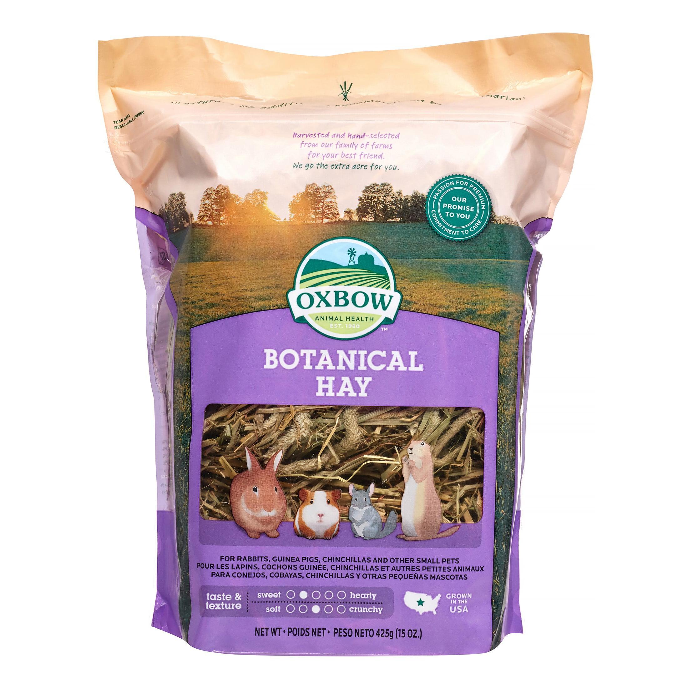Oxbow Pet Products Botanical Hay Dry Small Animal Food, 15 oz.