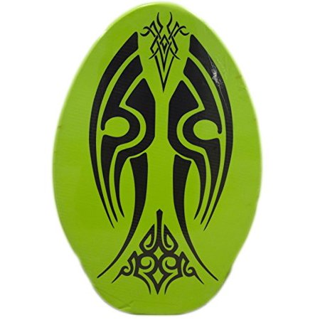 Rubber Top Wooden Skimboard With Slip Free Grip No Wax Needed Green3 30 Inch