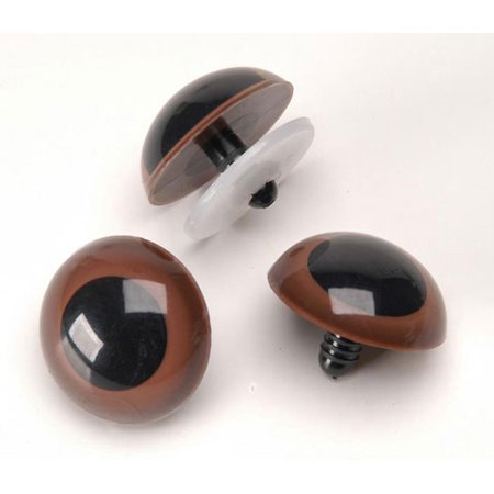 - Animal Eyes with Plastic Washers - Brown - 15mm - 50 pieces