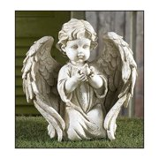 Angel Holding Dove Garden Figurine