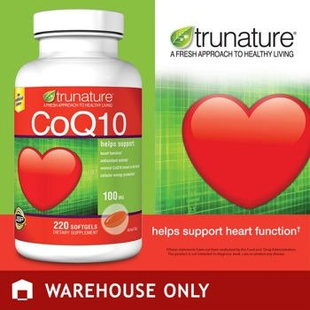 TruNature Coenzyme CoQ10 100 mg - 220 Softgels Coenzyme Q10 Antioxidant Vitamins