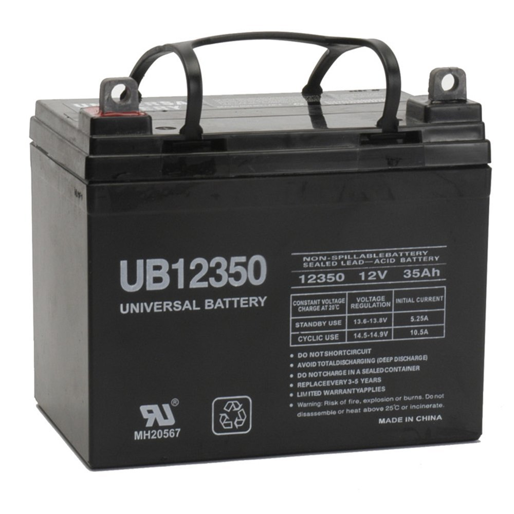 Sealed AGM Gel Golf Cart Battery 12 Volt 35 Amp Hour, 1 Year Warranty By Universal Power Group