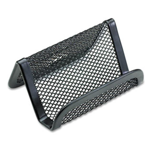 Eldon Office Products 22251ELD Mesh Business Card Holder, Capacity 50 2 1/4 x 4 Cards, Black
