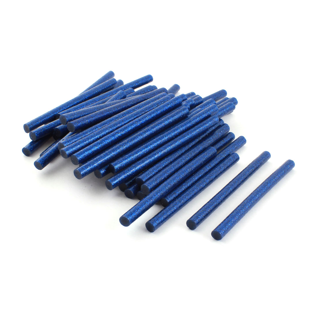 Unique Bargains 50Pcs 7mm Dia Blue Glitter Glue Adhesive Sticks 100mm for Electric Hot Melt