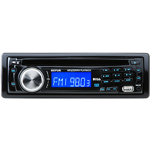 Boss Audio 637UA - In-Dash AM/FM CD/MP3 Receiver with USB Port and Front Panel AUX Input