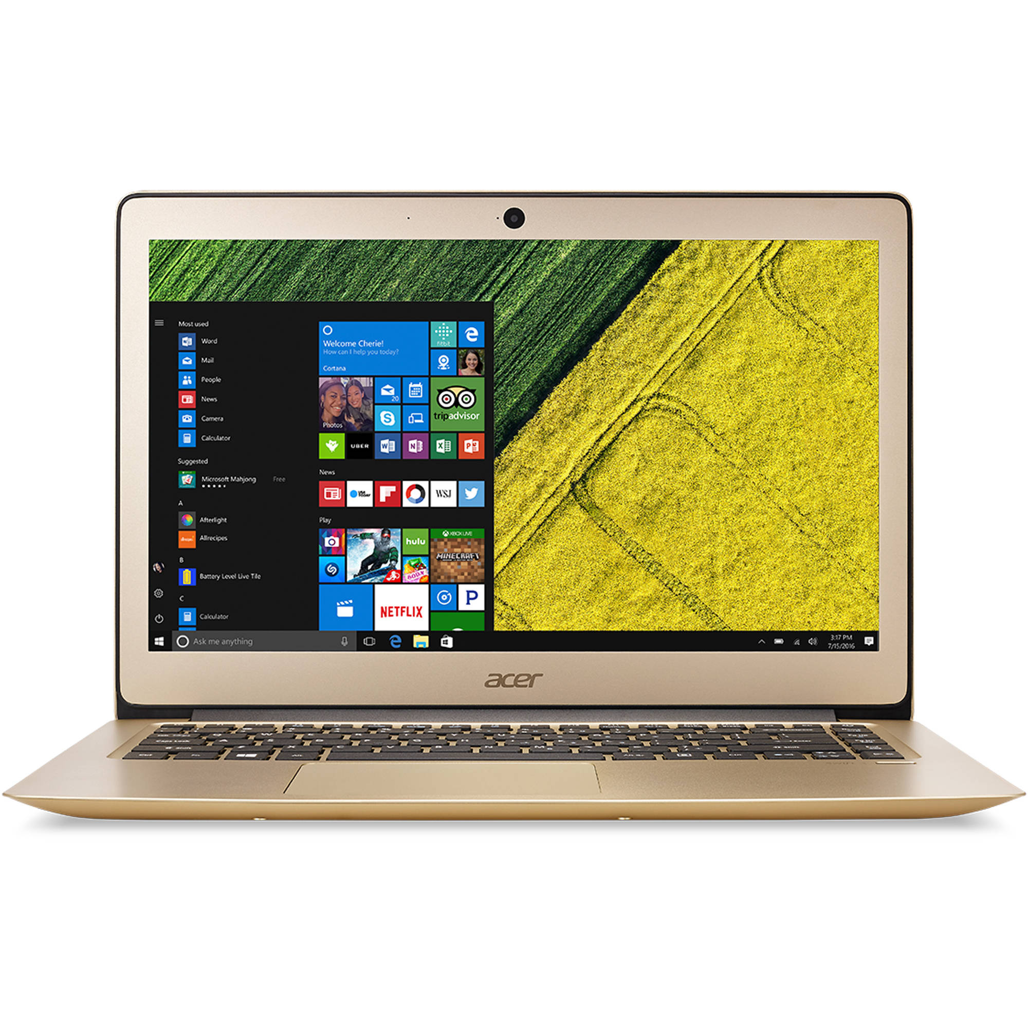 "Acer Swift 3, 14.1"" Full HD, Intel Core i7-6500U Processor, 8GB RAM, 256GB SSD, Windows Home 10, SF314-51-76R9"
