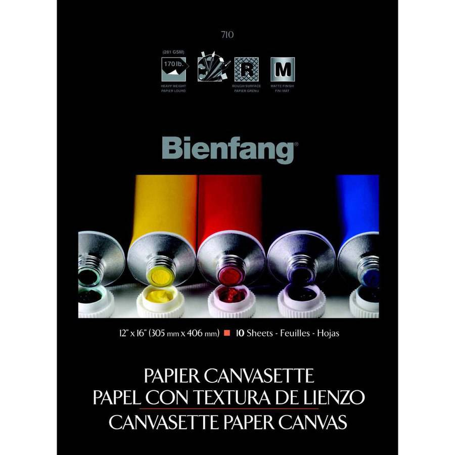 Bienfang Paper Pre-Primed Canvasette Panel, Multiple Sizes, 10pk