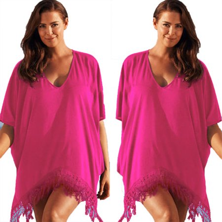 7b2b8181cfdc8 Women Plus Size Swimwear Beachwear Bikini Beach Swimsuit Cover Up Kaftan  Ladies Summer Dress - Walmart.com
