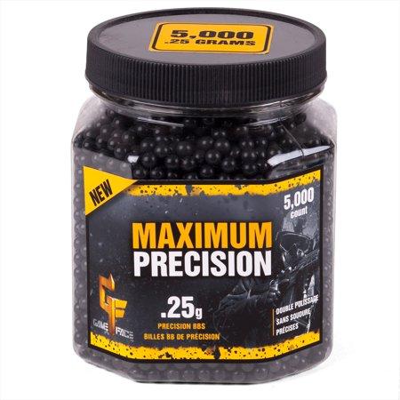 Crosman Maximum Precision 6mm BB Blk .25g, 5000ct