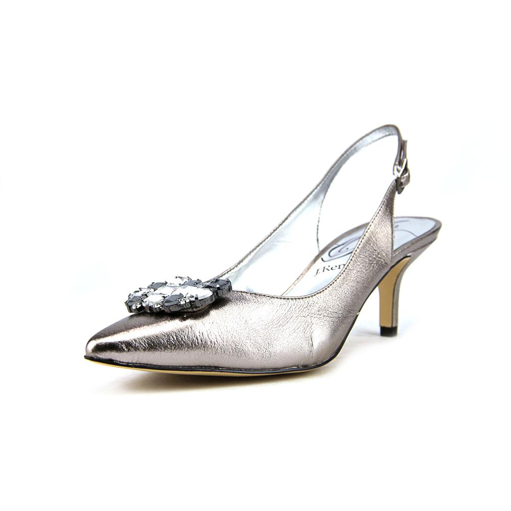 J. Renee Makenzie Pointed Toe Leather Slingback Heel by J. Renee