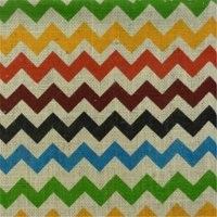 Textile Creations Home Decor Burlap, Chevron, Bright Multi-Color
