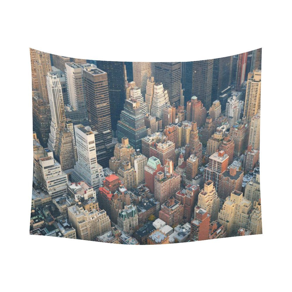 Gckg New York City Manhattan Skyline Street Cityscape Tapestry Horizontal Wall Hanging Nyc Aerial View Wall Decor Tapestry 51x60 Inches Walmart Canada