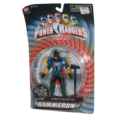 1997 Power Rangers Turbo Hammeron Bandai Figur W Hammer Hand Aktion