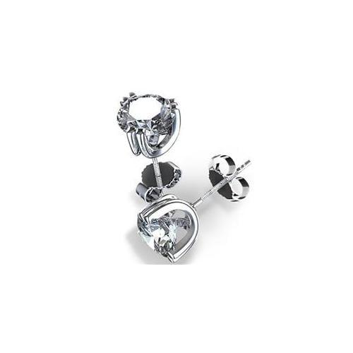 Diamond Impressions 1002285 Astonishing 4 ct.  Diamond Stud Earrings 14k White Gold, G-I, VS2