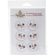 Peachy Keen Stamps Clear Face Assortment 6/pkg-happy Snow Couples