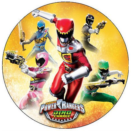20 Power Rangers Dino Charge Edible Image Cookie or Cupcake Topppers (Wafer/Rice Paper) ()