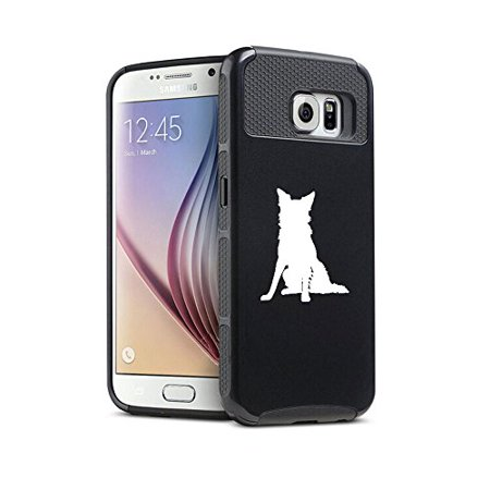 - For Samsung Galaxy S6 Shockproof Impact Hard Soft Case Cover Border Collie (Black)