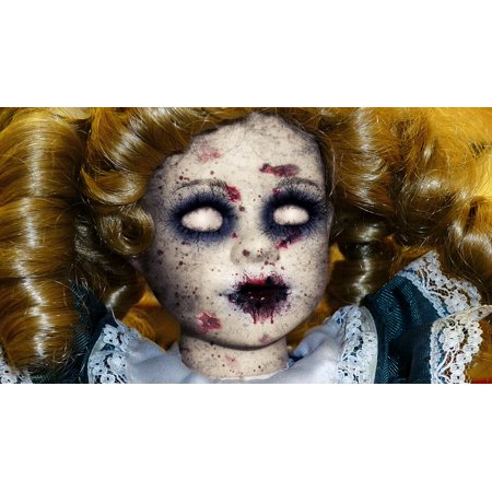 Peel-n-Stick Poster of Doll Halloween Monster Scary Fear Horror Evil Poster 24x16 Adhesive Sticker Poster - Fear Of Halloween