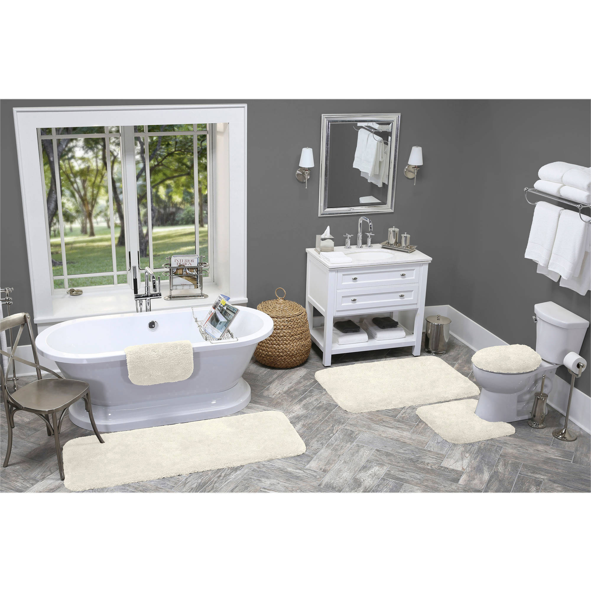 Made Here Bath Rug Collection, Contour
