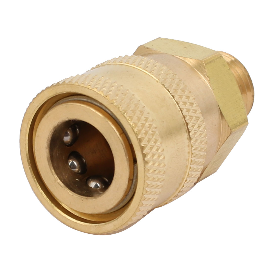 Unique Bargains G1/4 Male Thread Full Flow Quick Connect Washer Spray Nozzle Gold Tone