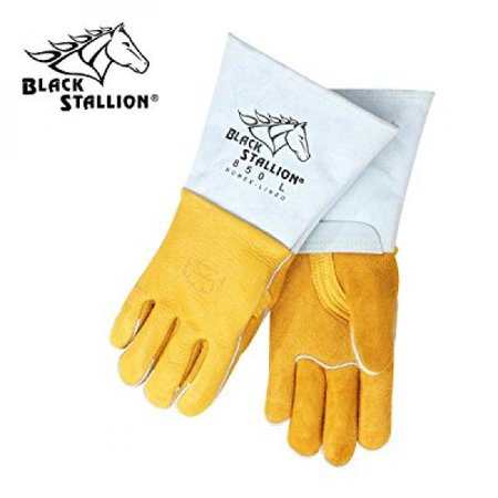 Flame Resistant Gloves - Revco 850L Flame Resistant Nomex Lined Elkskin Stick Welding Gloves L