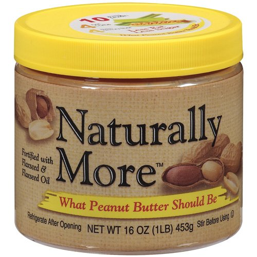 Naturally More Peanut Butter Naturally More, 16 oz