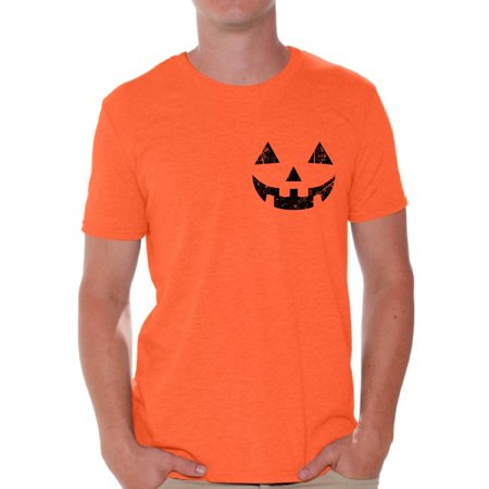 Awkward Styles Pumpkin Face Tshirt Halloween Pumpkin Shirt Pumpkin T-Shirt Halloween Shirts for Men Spooky Gifts Men
