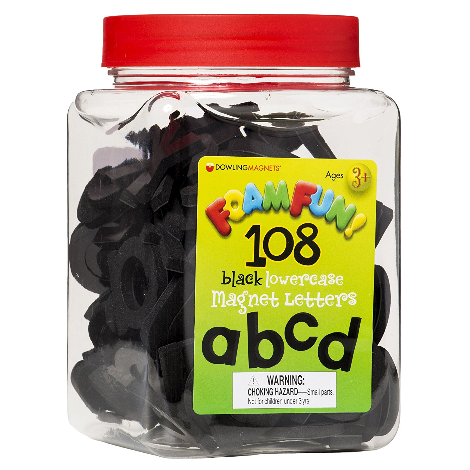 Lowercase Black Magnet Letters, Great contrast with Magnetic whiteboards By Dowling Magnets by