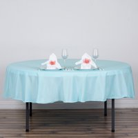 """Efavormart 90"""" Round Polyester Tablecloth for Kitchen Dining Catering Wedding Birthday Party Decorations Events"""