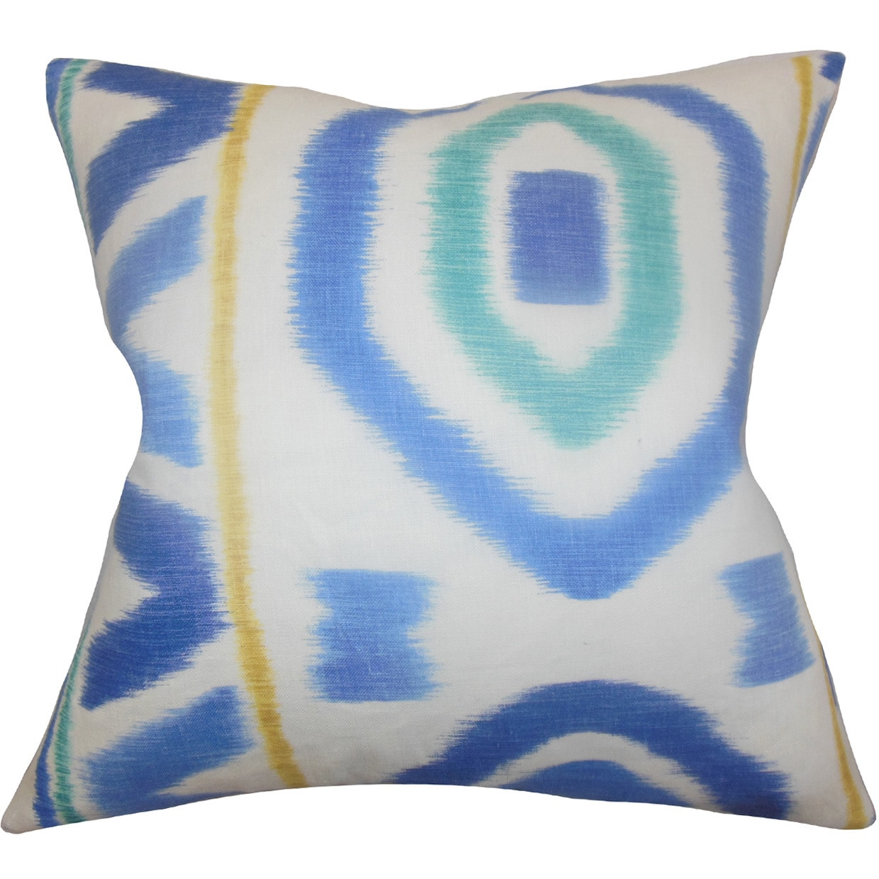 The Pillow Collection Rivka Geometric 22-inch Down Feather Throw Pillow Blue