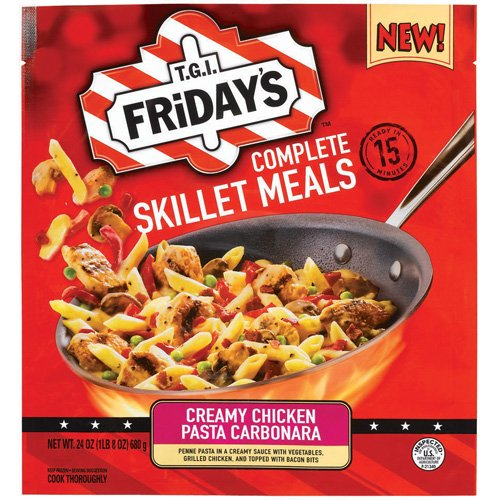 T.G.I. Friday's Complete Skillet Meals Creamy Chicken Pasta Carbonara, 24 oz