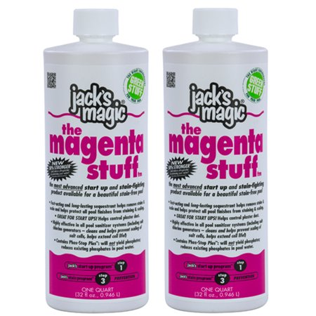 Jack's Magic The Magenta Stuff Swimming Pool Chemical- 1 Quart (2-pack)