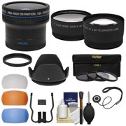 58mm Essentials Bundle with Fisheye + Tele/Wide-Angle Lenses + 3 Filters + Lens Hood + 3 Pop-Up Diffusers + Kit