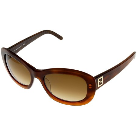 Fendi Sunglasses Womens Havana FS5130 214 Rectangular Size: Lens/ Bridge/ Temple: 52-18-135