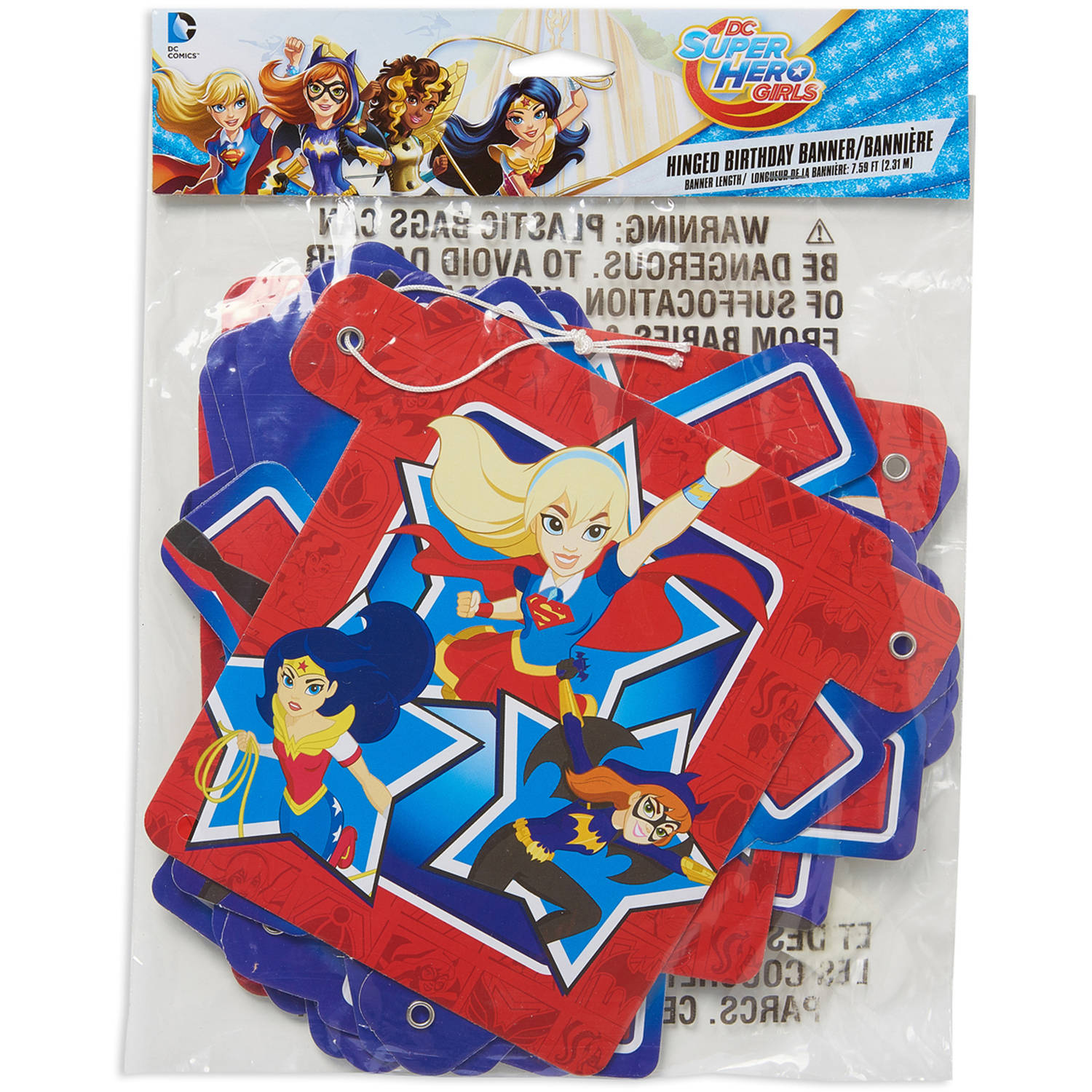 DC Super Hero Girls Birthday Party Banner, Party Supplies