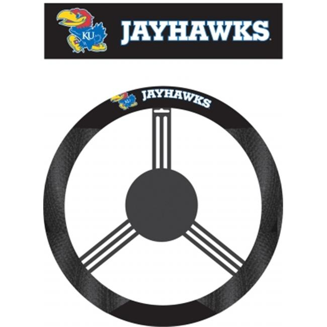 Fremont Die 58529 Kansas Jayhawks- Poly-Suede Steering Wheel Cover